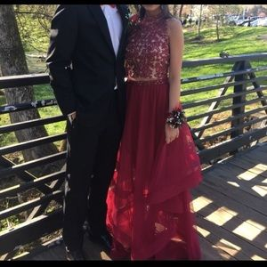 City Triangles Red Prom Dress